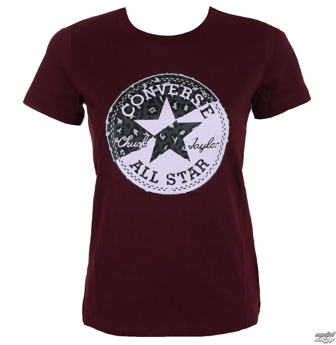 0fad357ec tričko dámske CONVERSE - Spliced Leopard - 10004597-A03