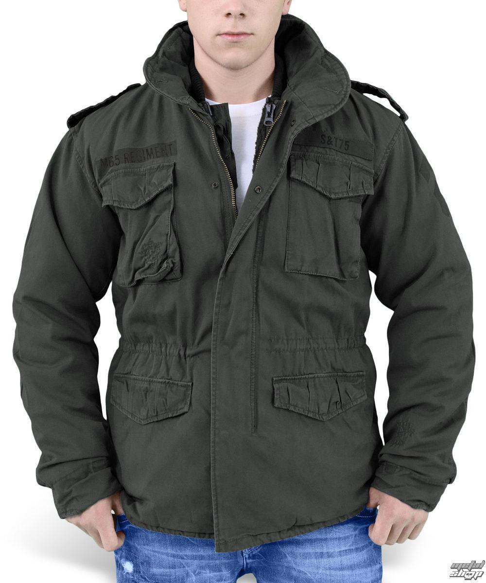 bunda pánska zimný SURPLUS - REGIMENT M 65 - Black - 20-2501-93