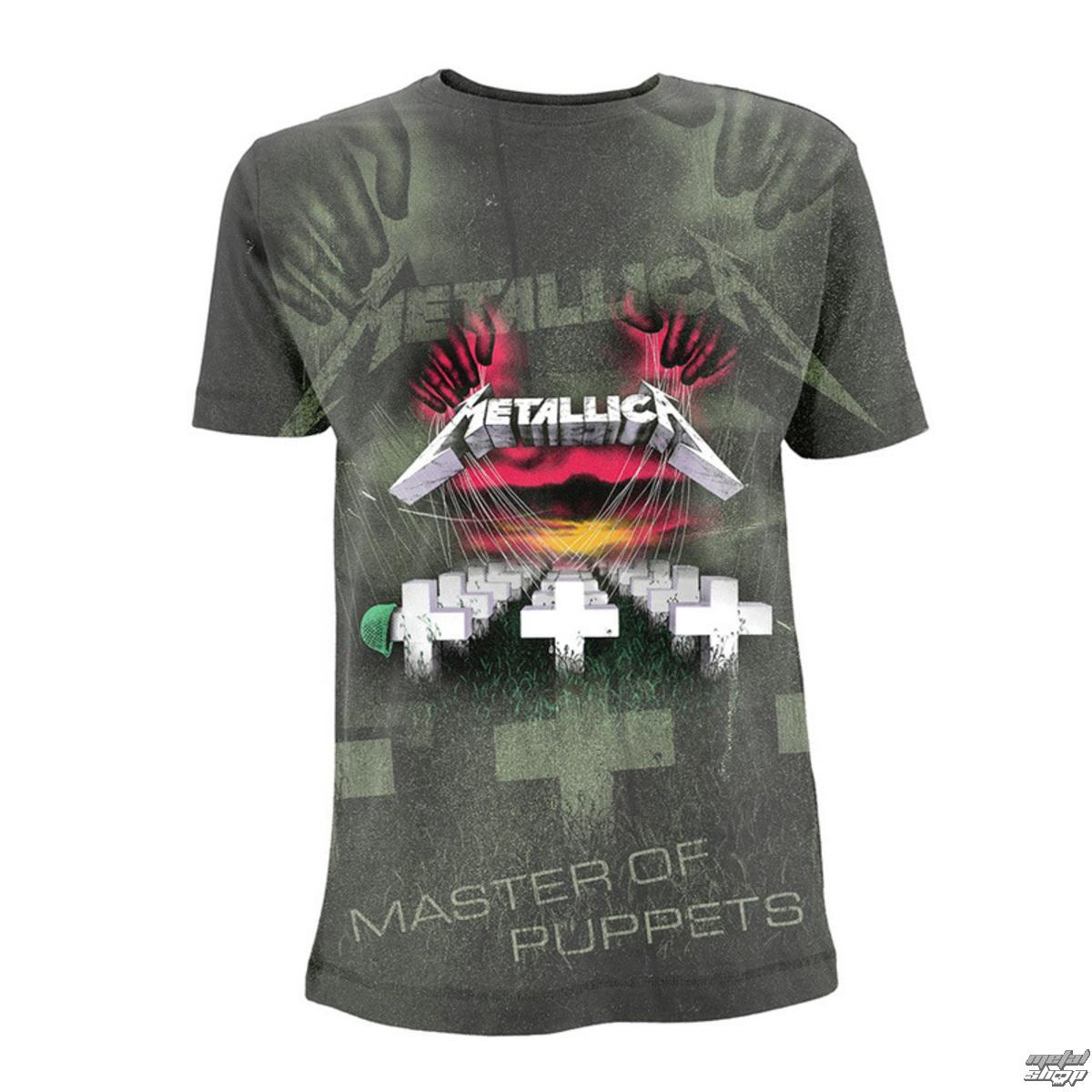 tričko pánske Metallica - Master Of Puppets - Charcoal - RTMTLTSCHMOP