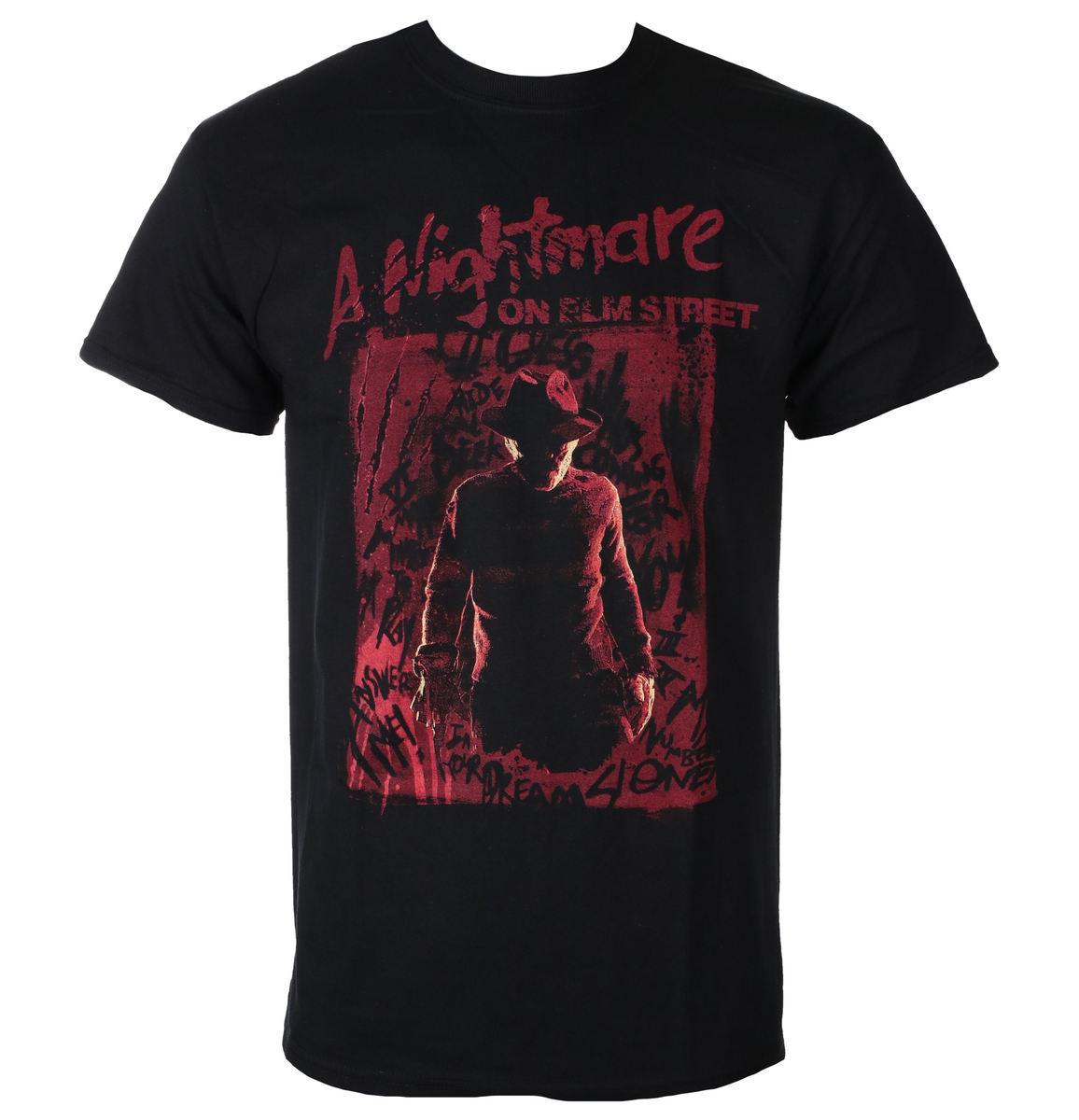 tričko pánske Noční můra z Elm Street - FREDDY SILHOUETTE - PLASTIC HEAD - BILNES00006