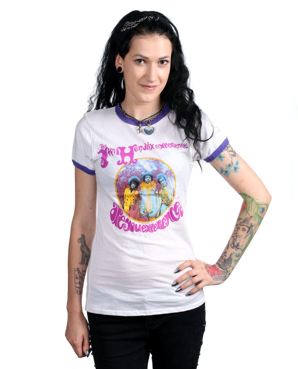 tričko dámske JIMI HENDRIX - AYE - RINGER - BRAVADO - 19751211