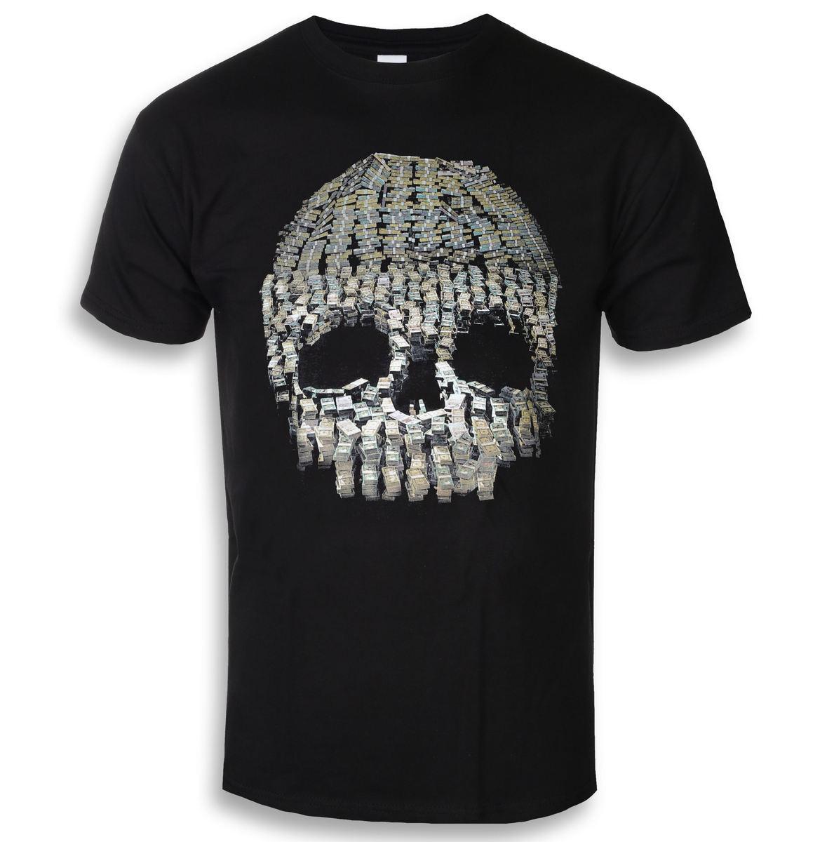 tričko pánske Anti Flag - Money Skull - Black - KINGS ROAD - 20111069
