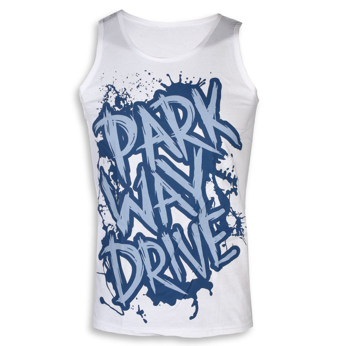 tielko pánske Parkway Drive - Blue Logo - White - KINGS ROAD - 20000564