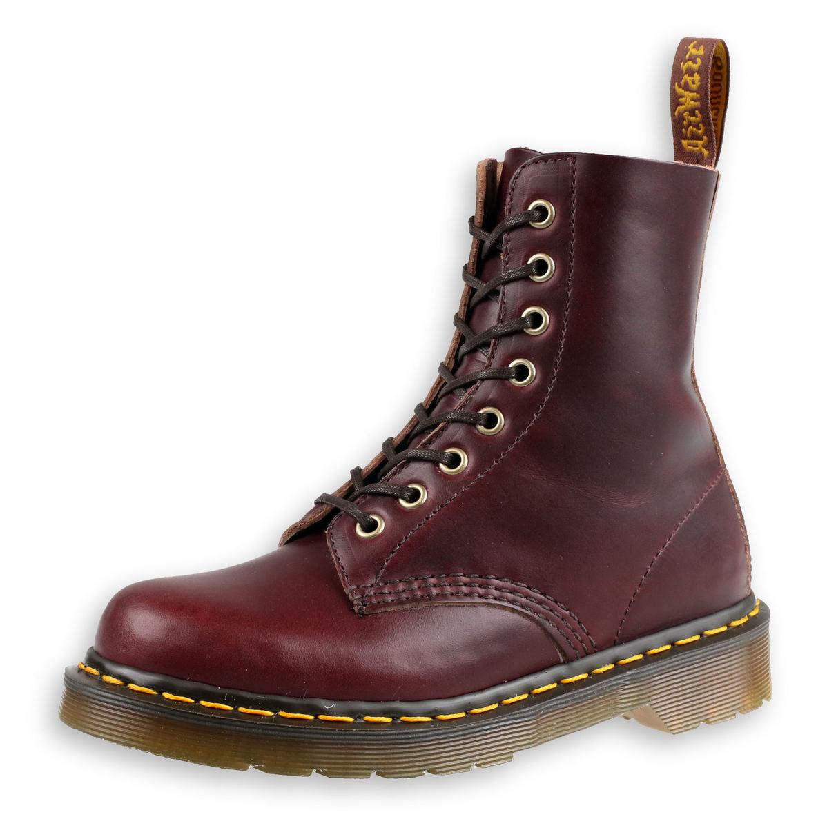topánky Dr. Martens - 8 dierkové - Burgundy - 1460 Pascal - DM24196606