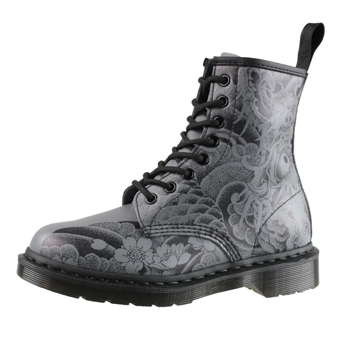 1f1877ef8b topánky Dr. Martens - 8 dierkové - 1460 ot Tattoo - Black Gunmetal -