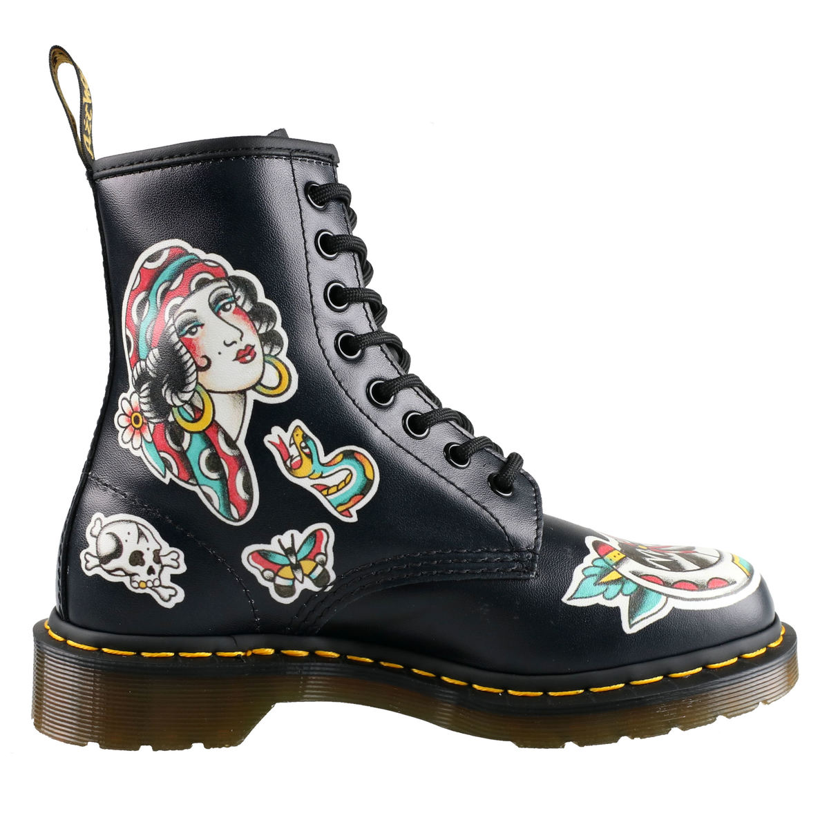 82c86696a9bd topánky Dr. Martens - 8 dierkové - 1460 - Chris Lambert - Black   Multi