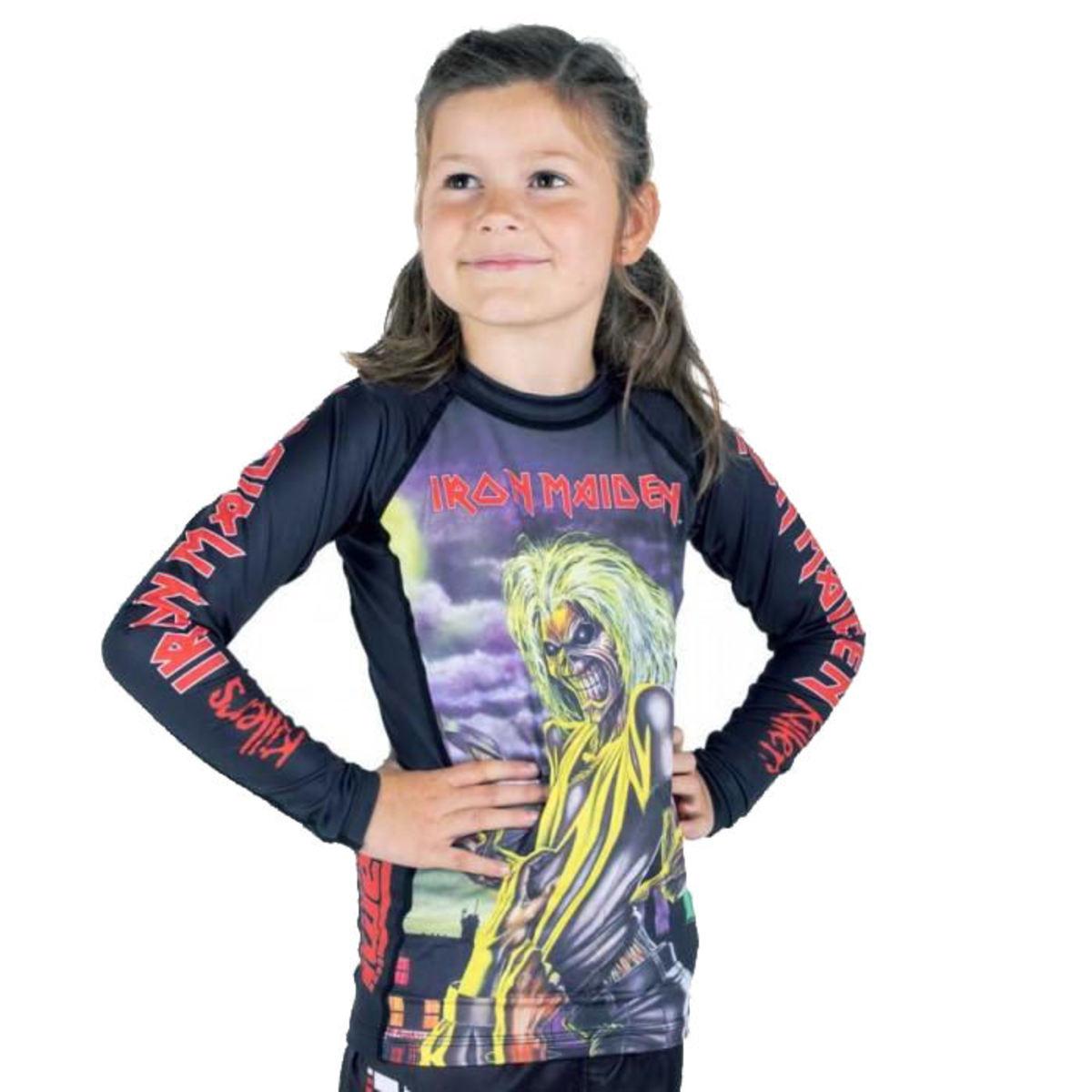 tričko detské s dlhým rukávom (technickej) TATAMI - Iron Maiden - Killers - Rash Guard - TAT009