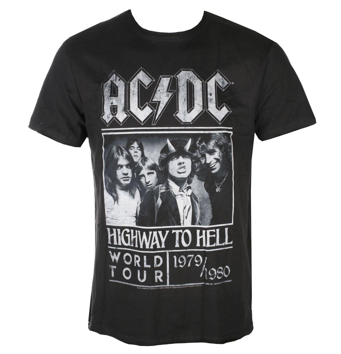 tričko pánske AC/DC - HIGHWAY TO HELL POSTER - Charcoal - AMPLIFIED - ZAV210B10