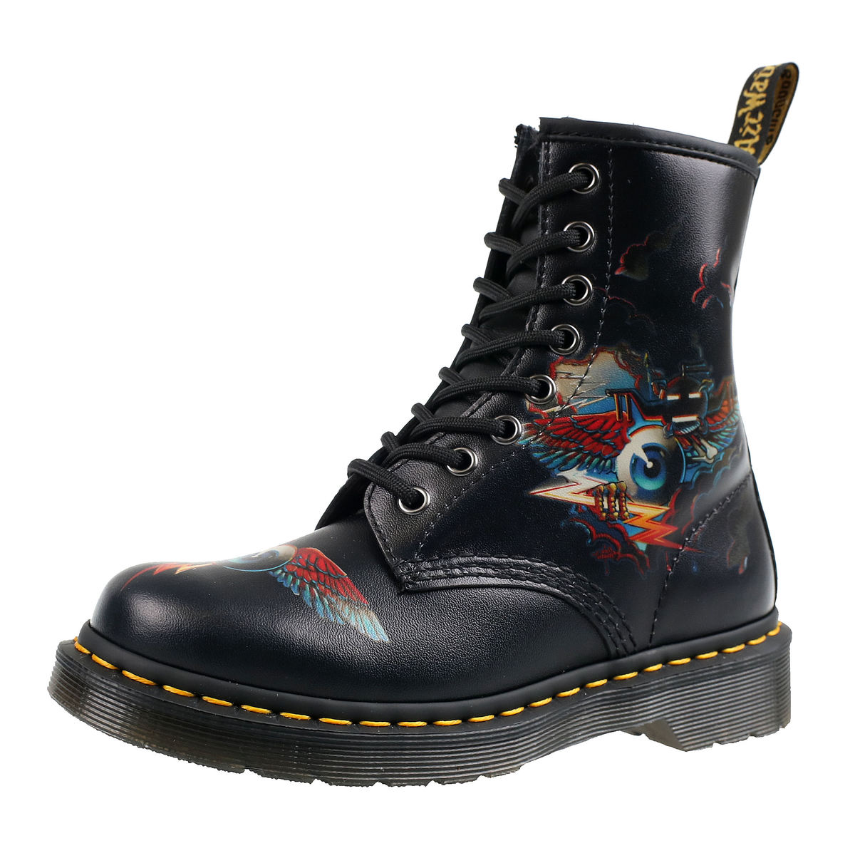953fbc5b15 topánky DR.MARTENS - 8 dierkové - RICK GRIFFIN - RG EYE MULTI ...