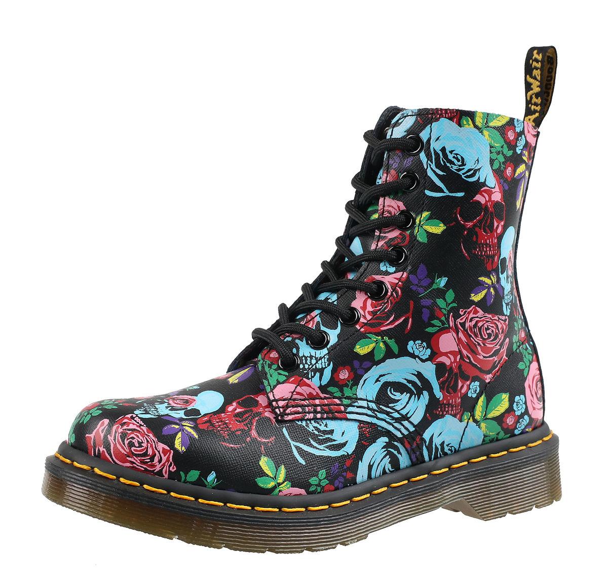 topánky DR.MARTENS - 8 dierkové - PASCAL ROSE - DM24427102