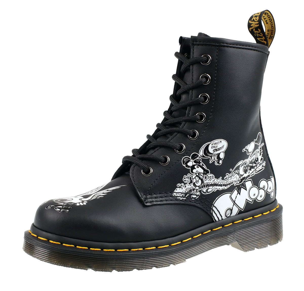 256ad268c9 topánky DR.MARTENS - 8 dierkové - RICK GRIFFIN BLACK WHITE ...