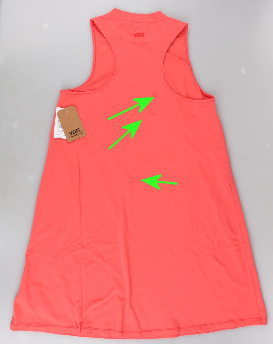 šaty dámske VANS - WM CARMEL - Spiced CORAL - POŠKODENÉ - MA142