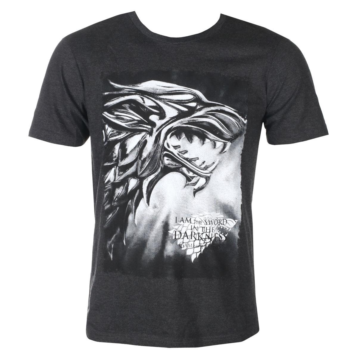 tričko pánske Game of thrones - I AM THE SWORD - ANTHRACITE MELANGE - LEGEND - MEGOFTDTS016