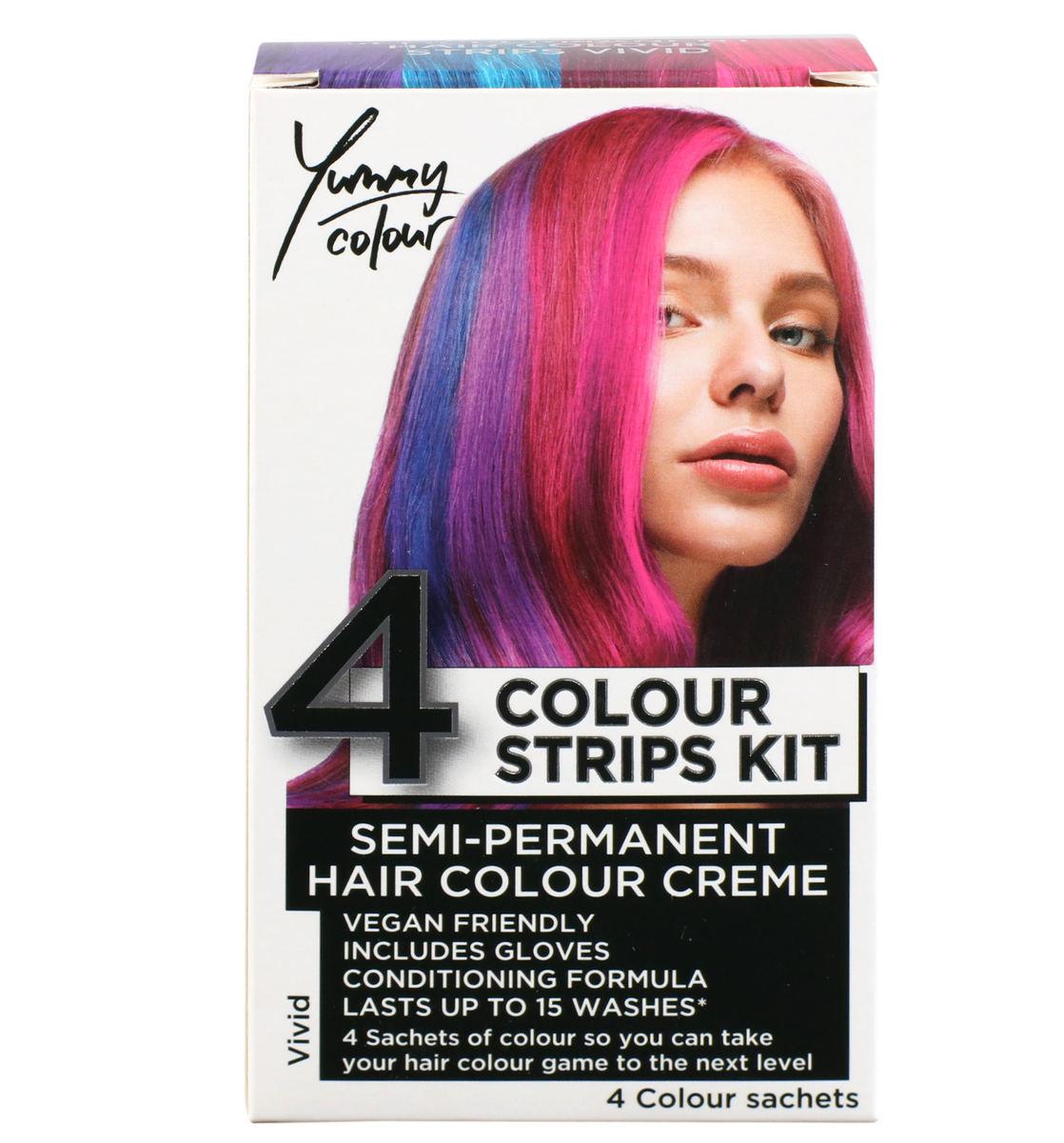 farba na vlasy STAR GAZER - Yummy Colour 4 Colour Strips Kit - Vivid - SGS234