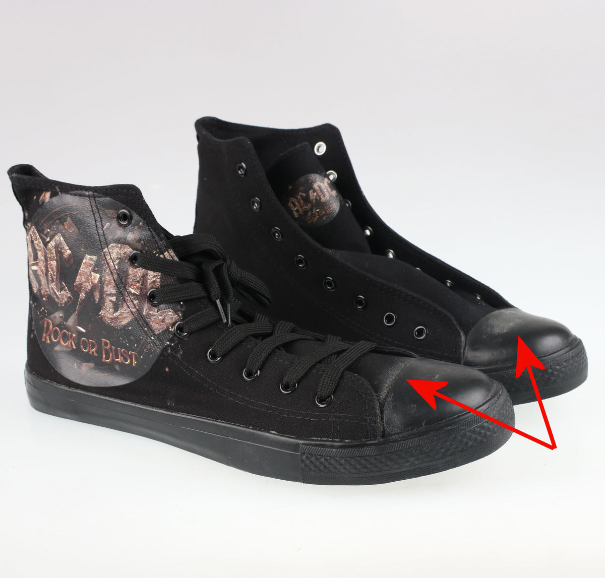topánky AC/DC - Rock Or Bust - Black - F.B.I.. - POŠKODENÉ - MA216