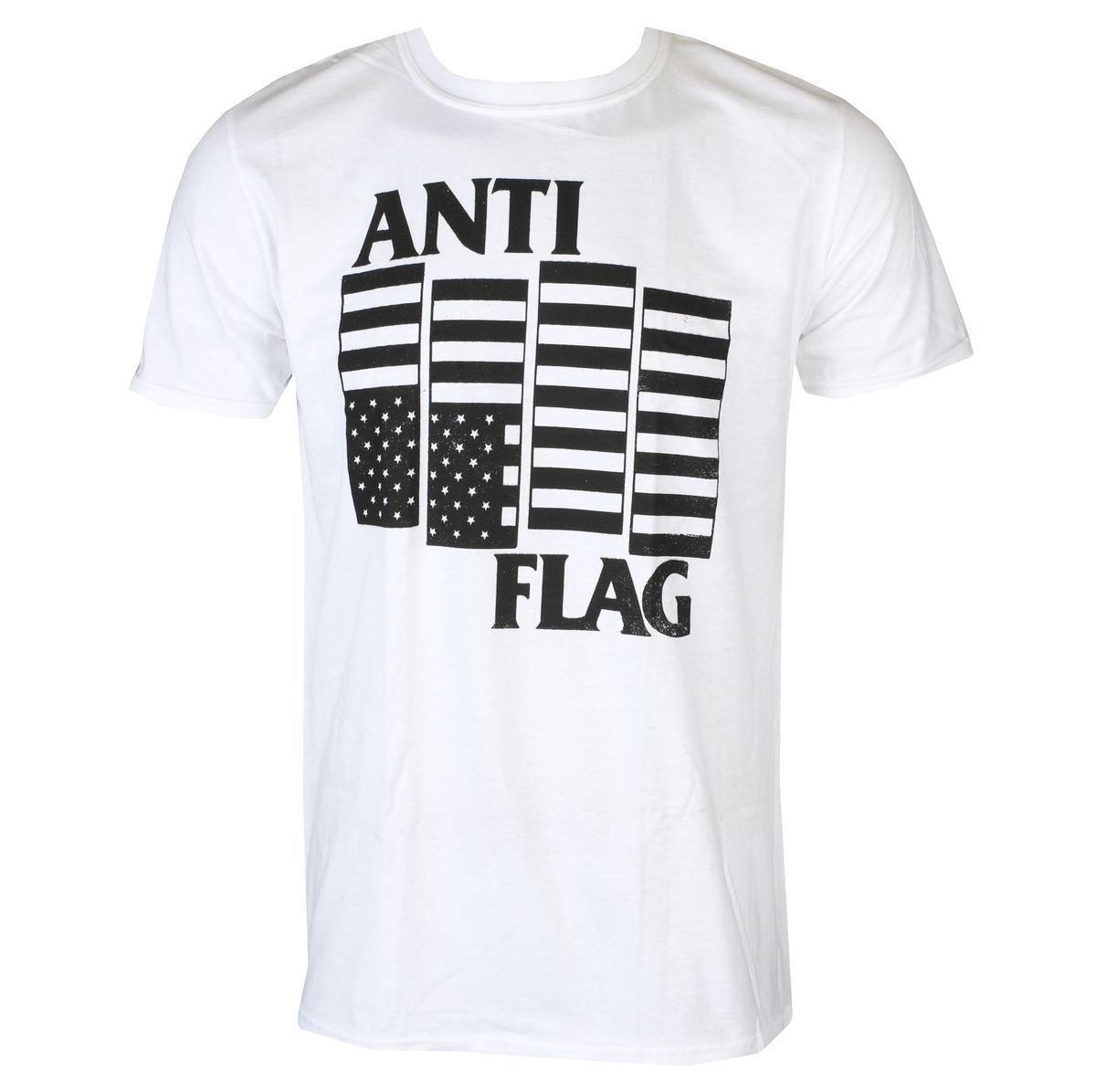 tričko pánske Anti Flag - Black Flag - White - KINGS ROAD - 20127831
