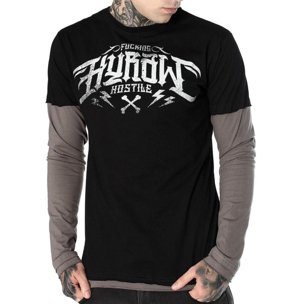 tričko pánske s dlhým rukávom HYRAW - MANCHES LONGUES - FW19-M13