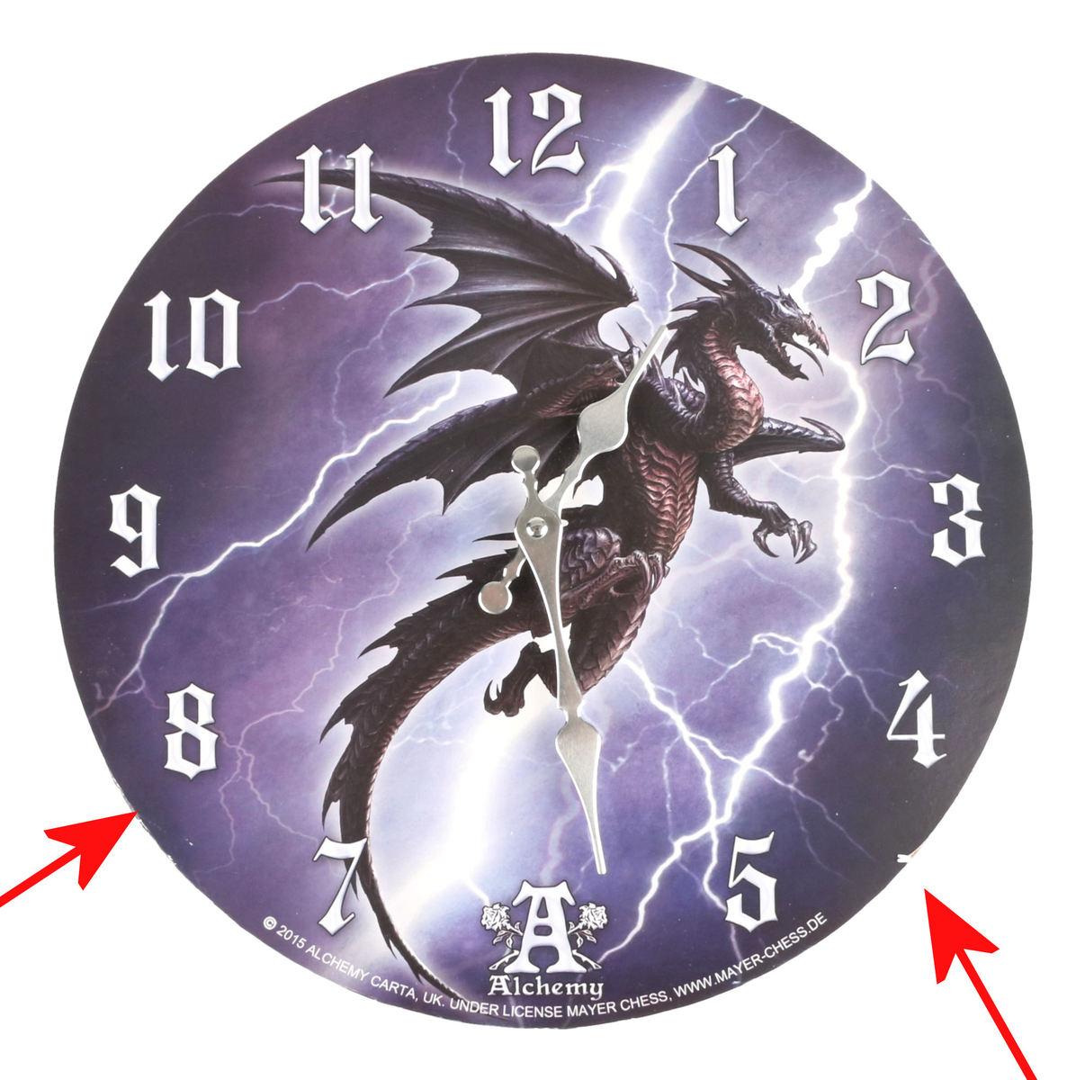 hodiny ALCHEMY GOTHIC - Lightning Dragon - POŠKODENÉ - MA290