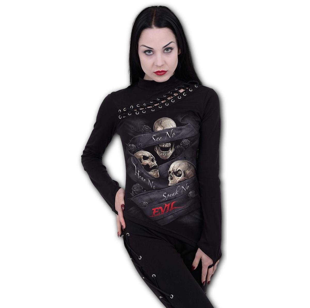 tričko dámske s dlhým rukávom SPIRAL - SEE NO EVIL - T180F475