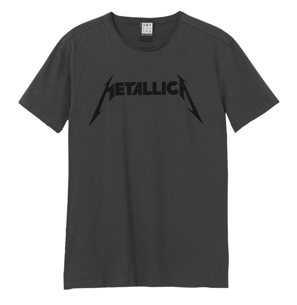 tričko pánske METALLICA - BLACK LOGO - AMPLIFIED - ZAV210D84