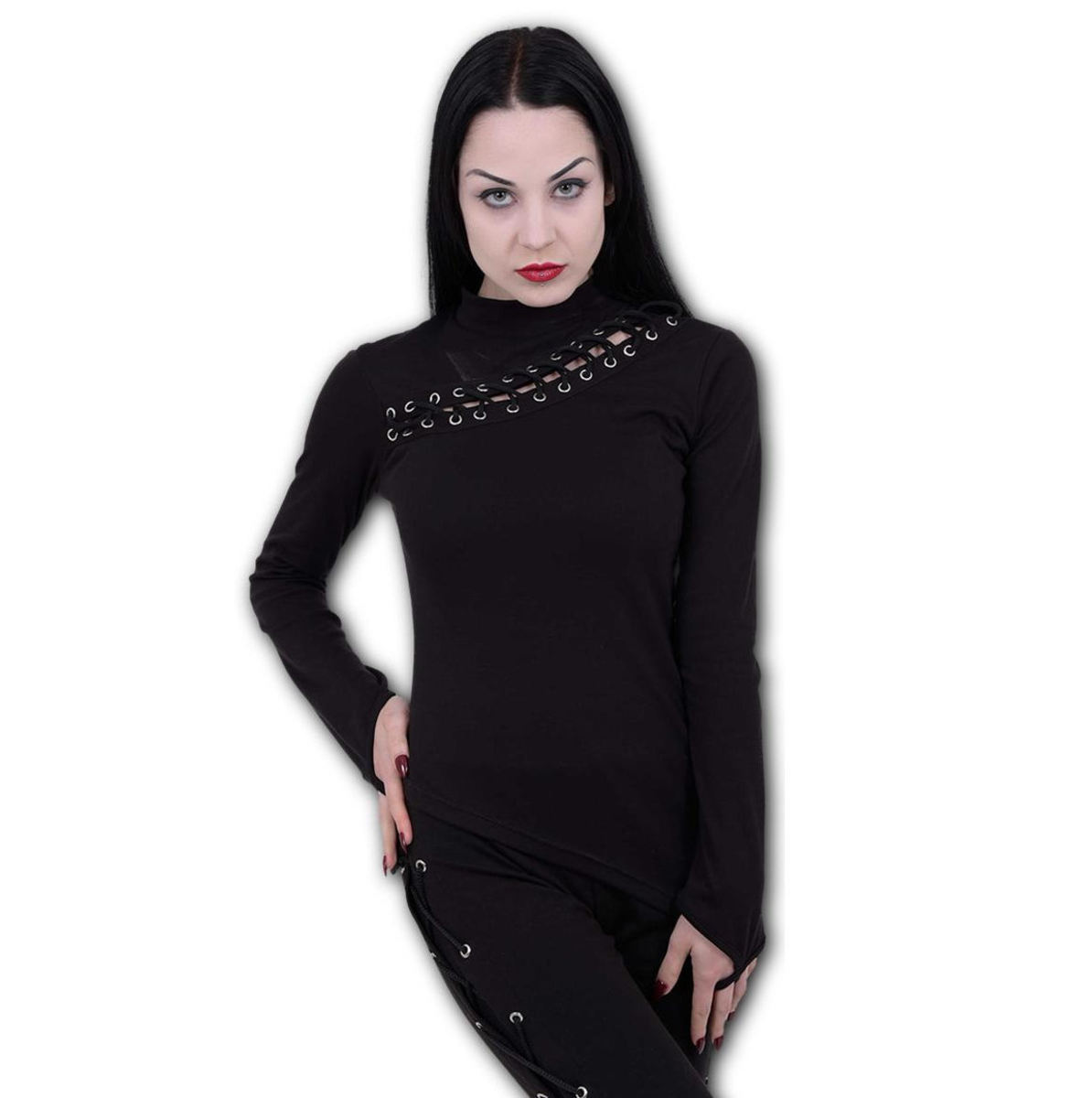 tričko dámske s dlhým rukávom SPIRAL - GOTHIC ROCK - P002F475