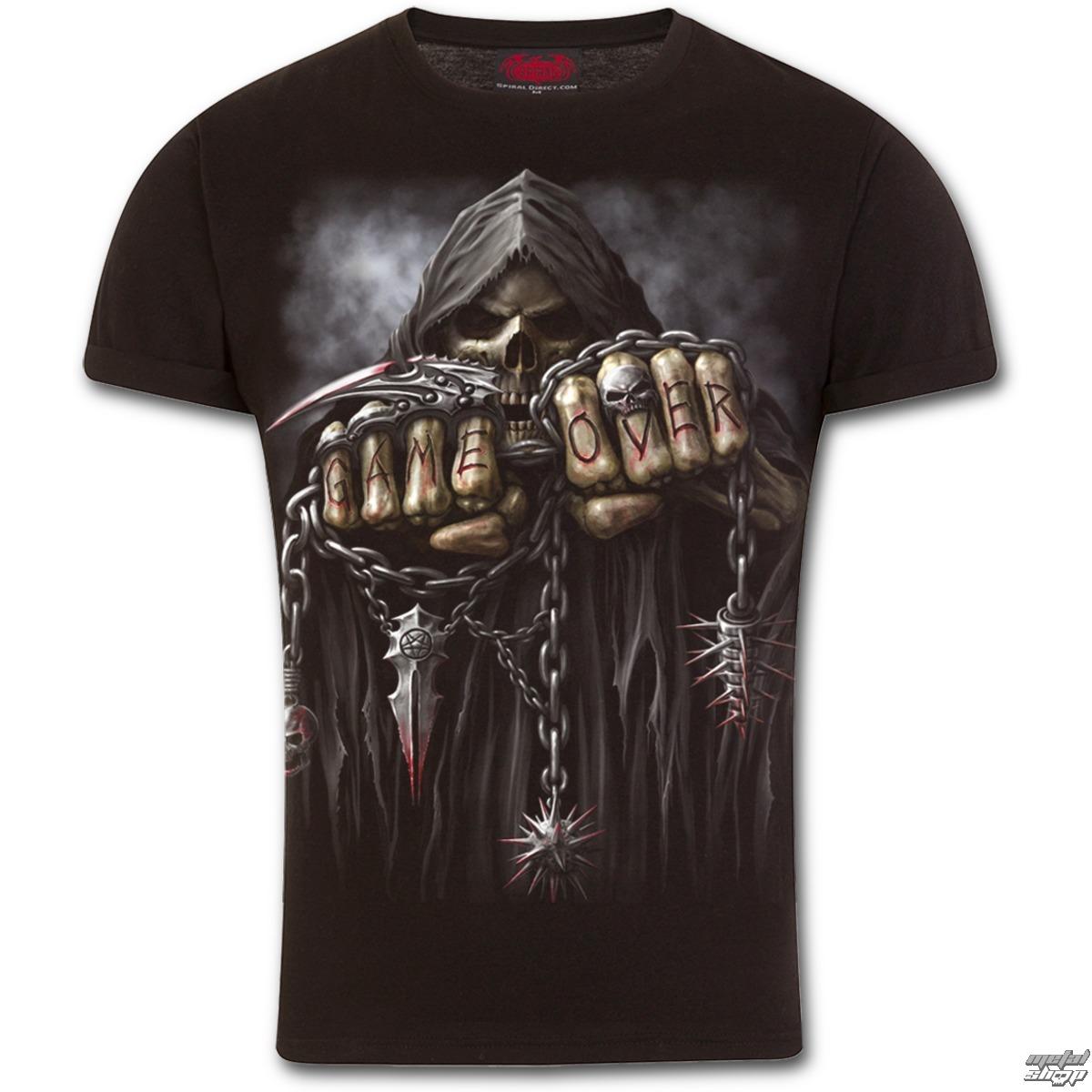 tričko pánske SPIRAL - GAME OVER - Black - T026M135