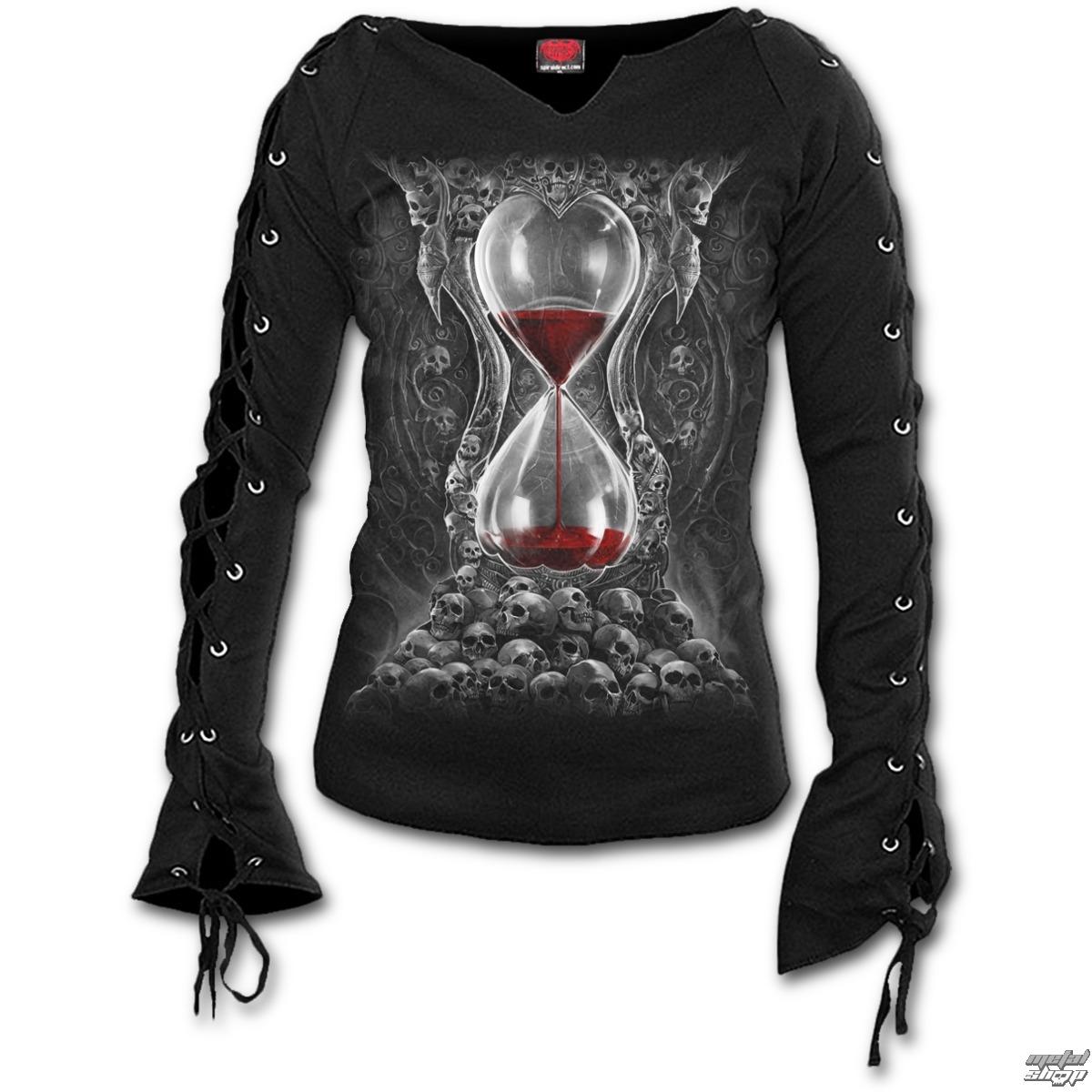 tričko dámske s dlhým rukávom SPIRAL - SANDS OF DEATH - Black - D078F412