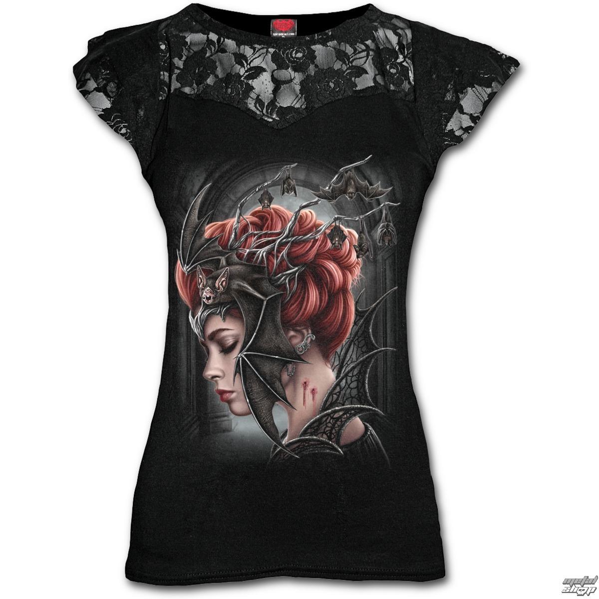 tričko dámske SPIRAL - QUEEN OF THE NIGHT - Black - T154F721
