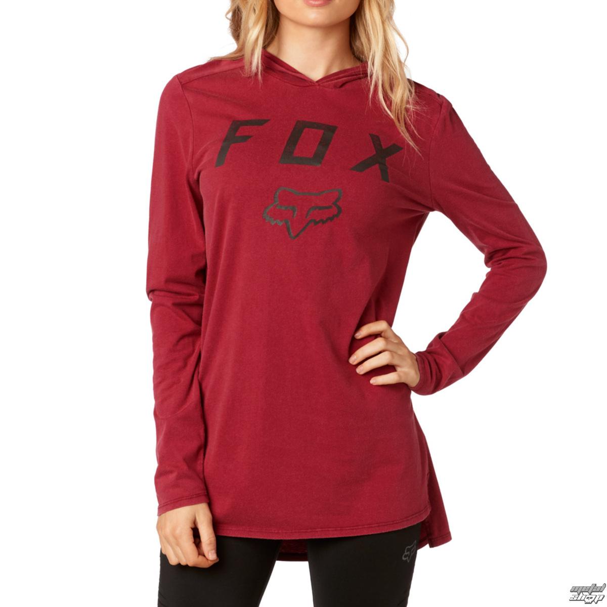 tričko dámske s dlhým rukávom FOX - Axiom - Dark Red - 19658-208