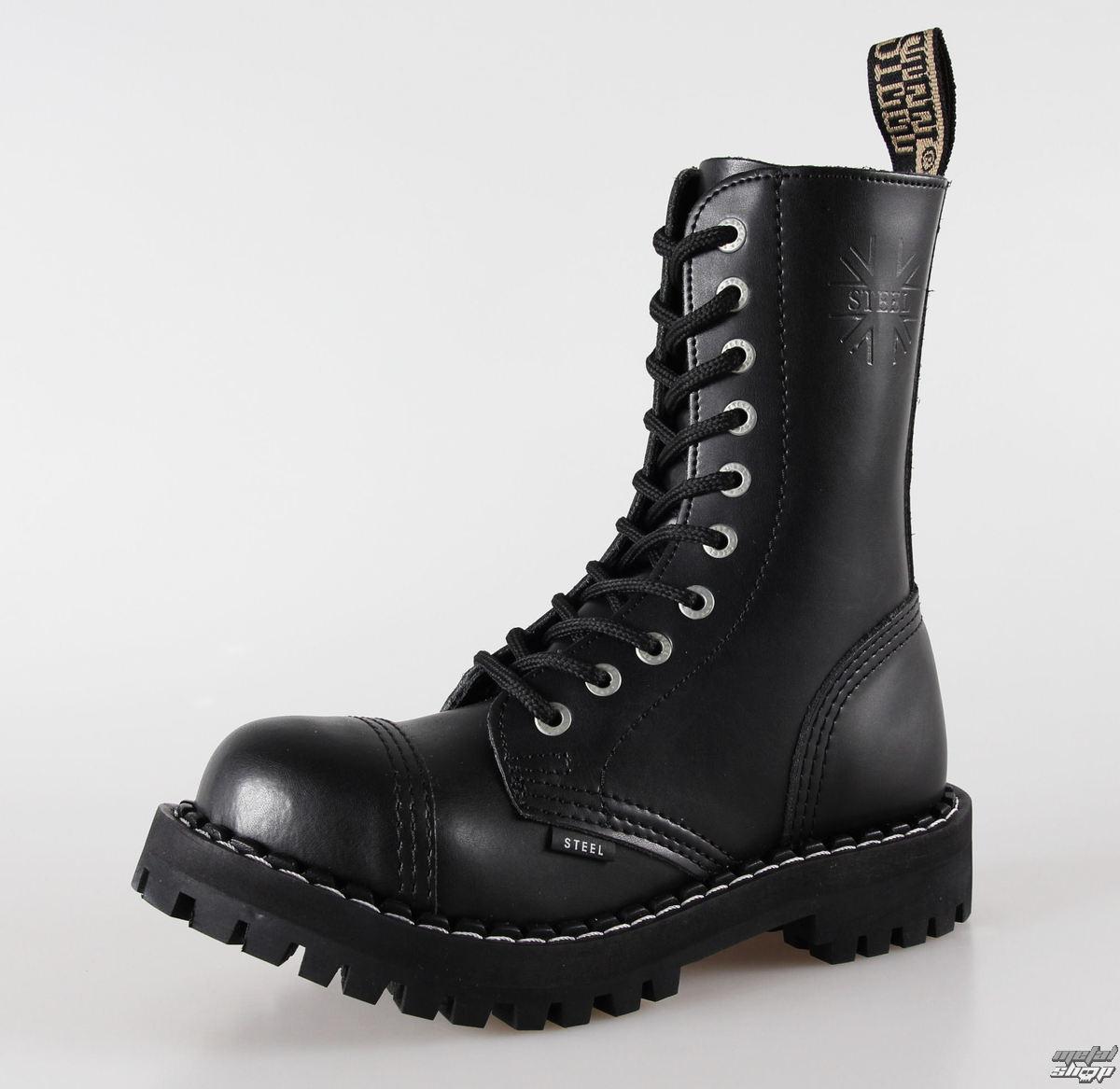 d24230c1ee23c topánky STEEL - 10 dierkové čierne ( 105/106 Black) - metalshop.sk