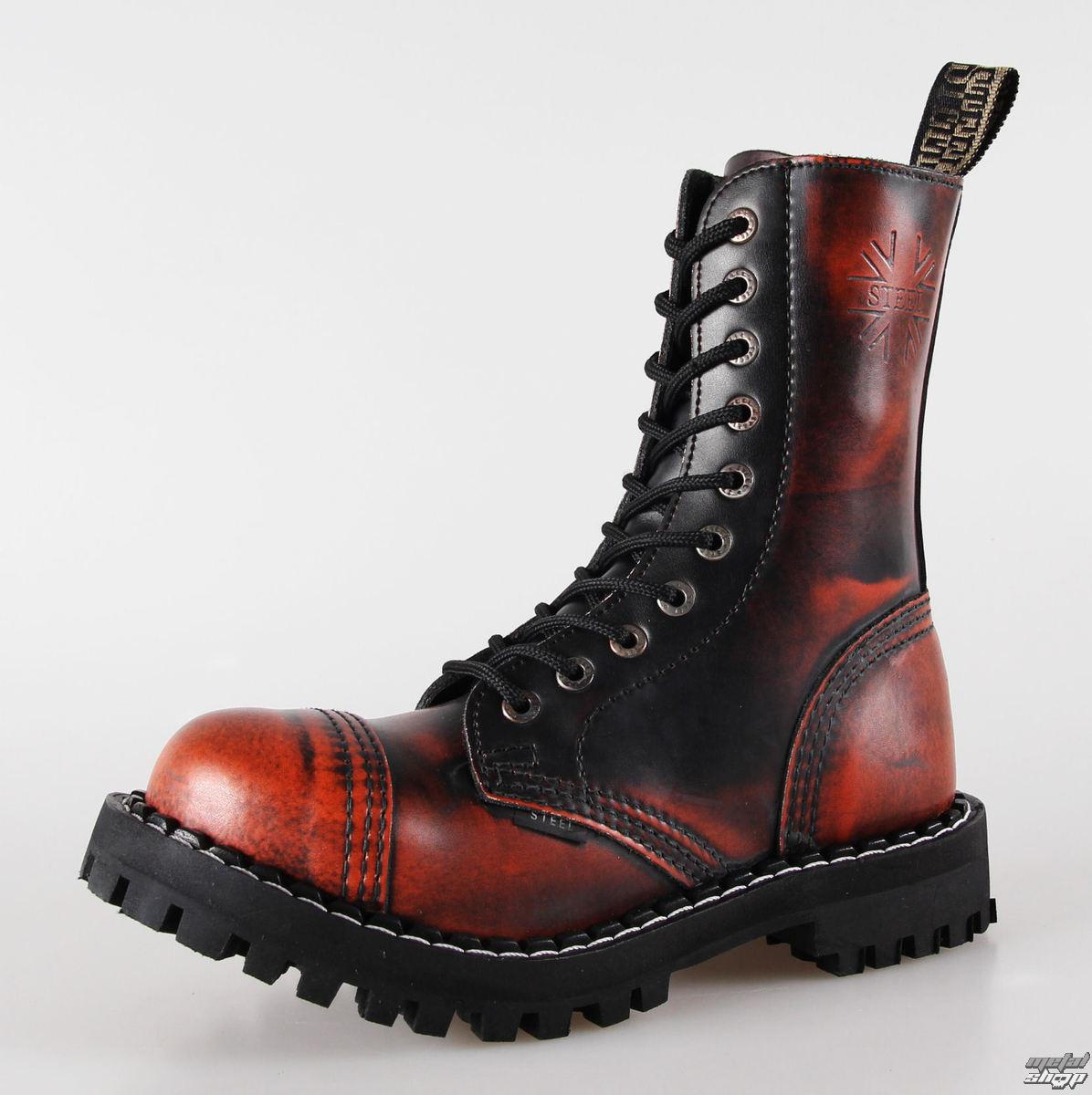 topánky STEEL - 10 dierkové oranžové (105/106 Orange)