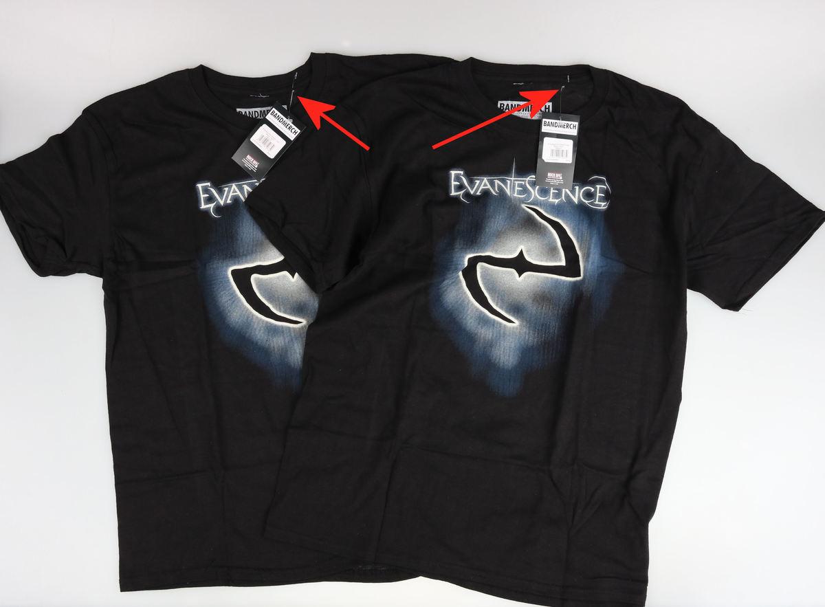 tričko pánske Evanescence - Classic Logo - ROCK OFF - POŠKODENÉ - MA003