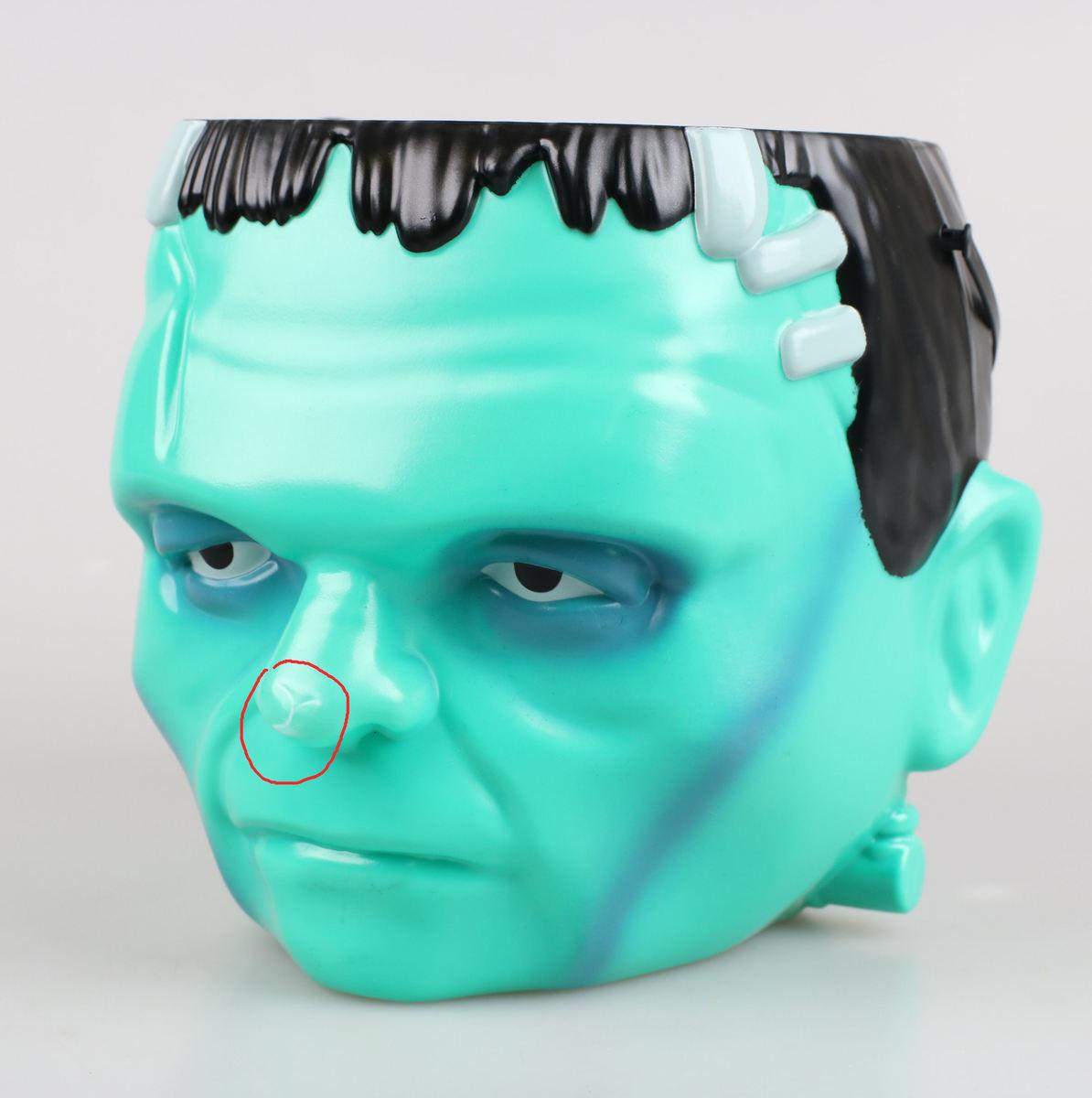 dekorácia (kýblik na sladkosti) Universal Monsters - Frankenstein - POŠKODENÉ - MA220