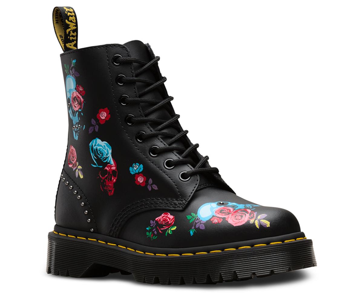 73ce54de7c topánky DR.MARTENS - 8 dierkové - PASCAL BEX ROSE BLACK MULTI ...