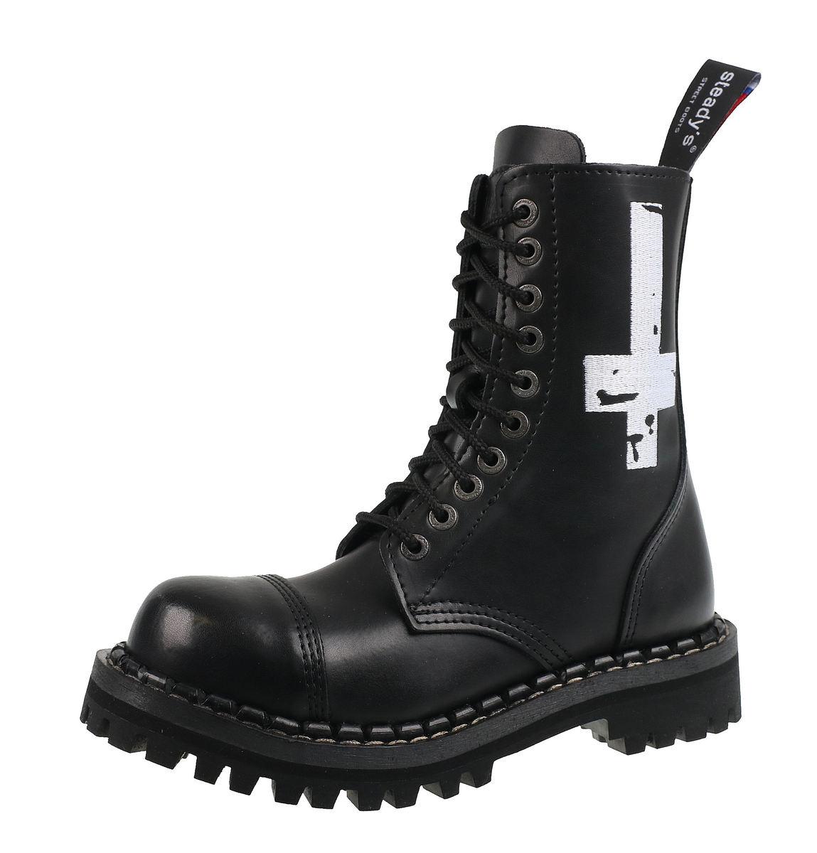 topánky STEADY´S - 10 dierkové - Cross white - STE/10/H_Cross White
