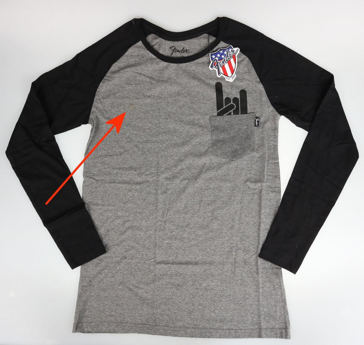 tričko pánske s dlhým rukávom FENDER - POŠKODENÉ - IF031