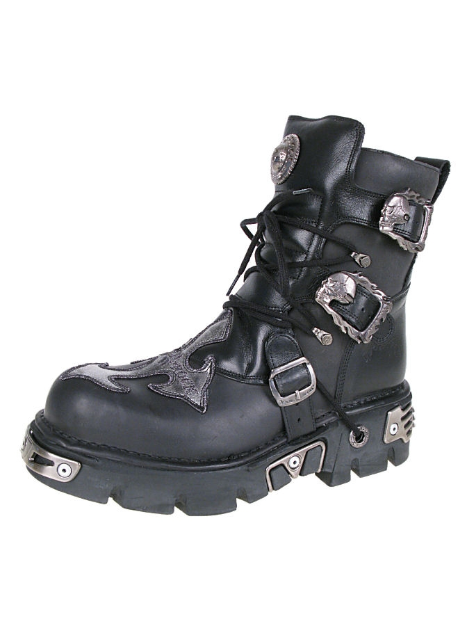 topánky NEW ROCK - Cross Shoes (407-S1) Black-Grey - N-8-54-700-08