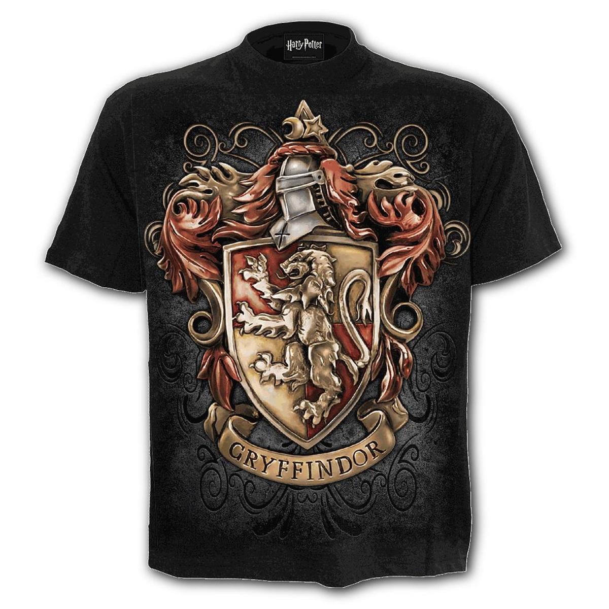 tričko pánske SPIRAL - HARRY POTTER - Gryffindor CREST - Black - G243M101
