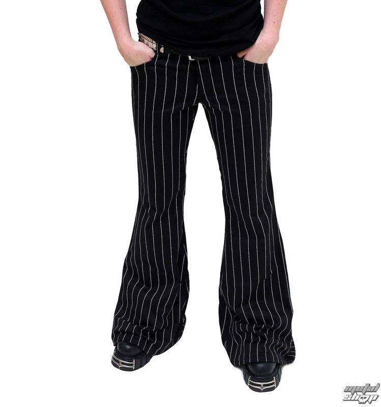 nohavice dámske Mode Wichtig - Flares Pin Stripe Black-White - M-1-08-050-01