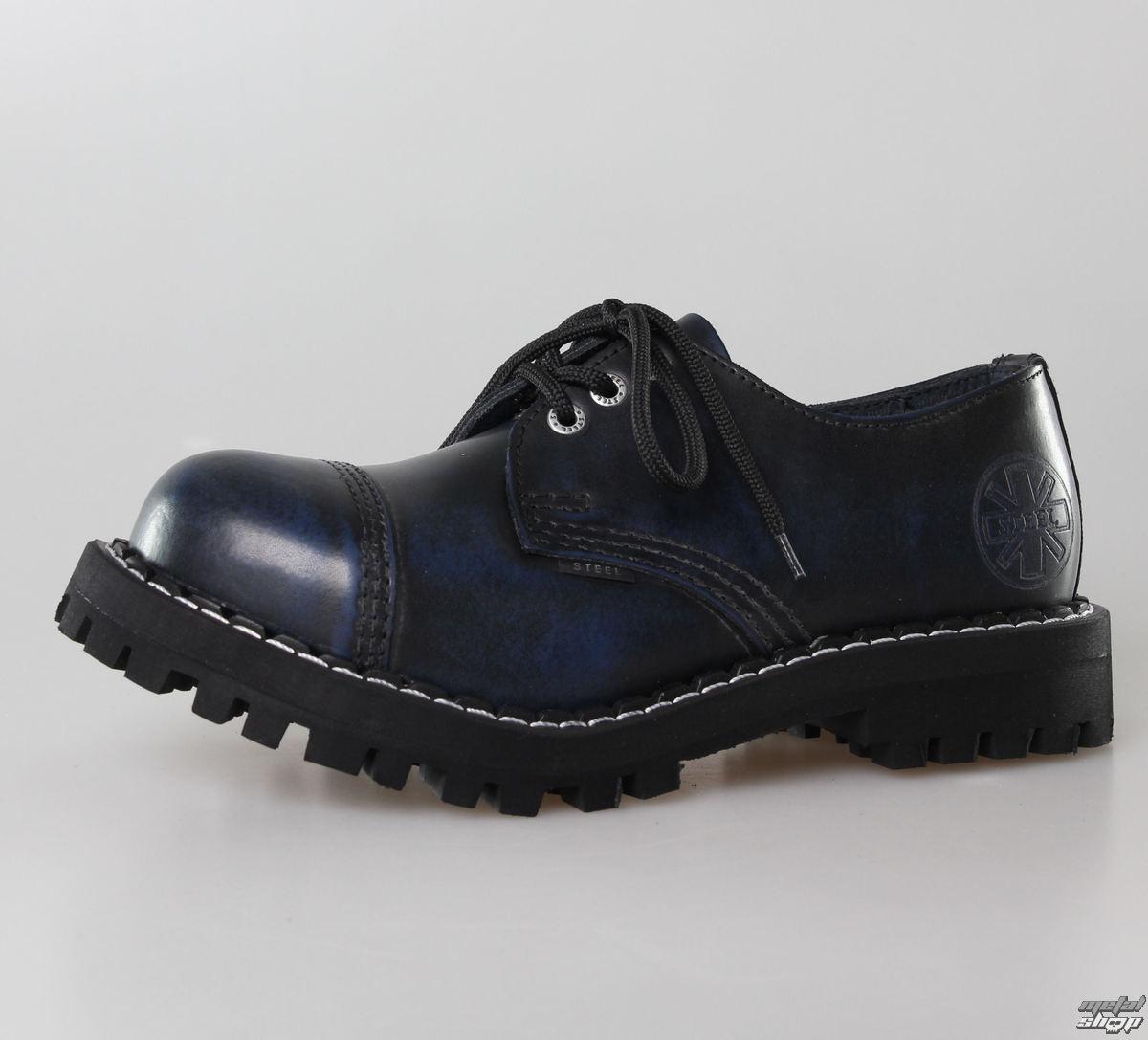 topánky STEEL - 3 dierkové modré (101/102 Blue)