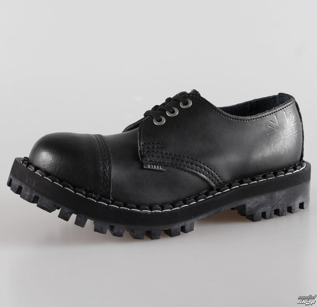 cb798bfc6180 topánky STEEL - 10 dierkové čierne ( 105 106 Black) 10tich-dierkové ...