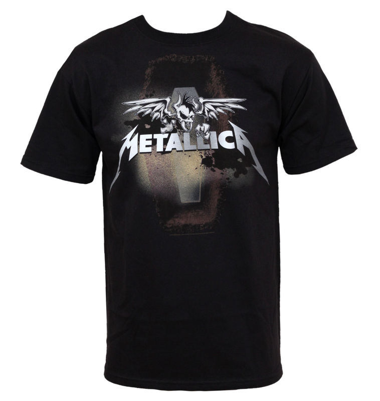 "tričko pánske Metallica ""Winged Guy Coffin"" - TS/MET/WINGEDG - 13592032 - BRAVADO USA-MET1207"