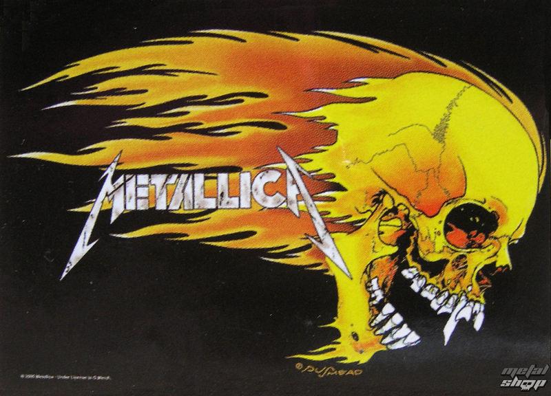 vlajka Metallica - Skull & Flames - HFL311