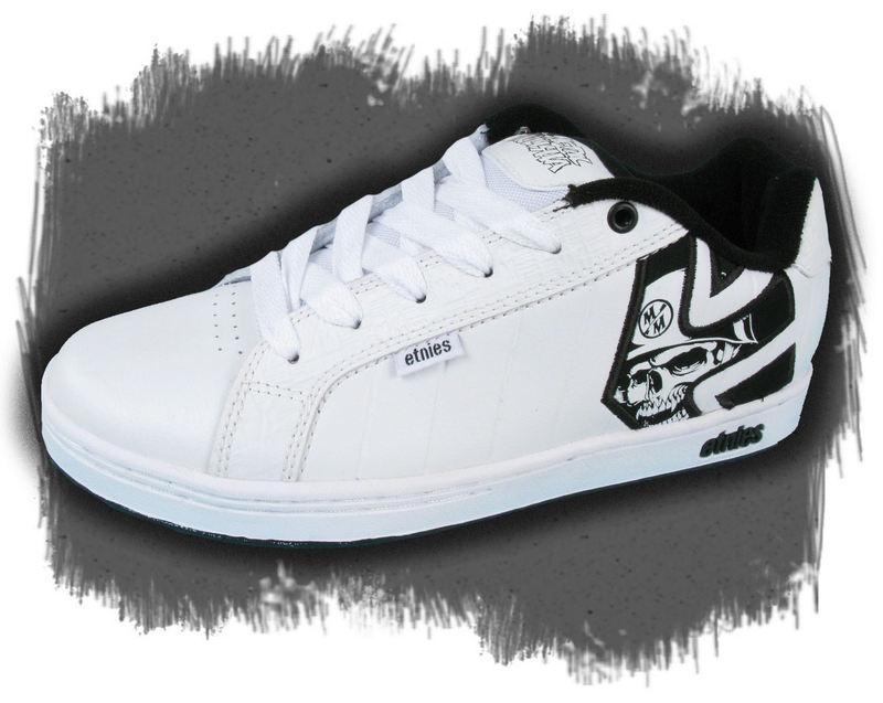 topánky pánske ETNIES - METAL MULISHA - FADER - WHITE/BLACK