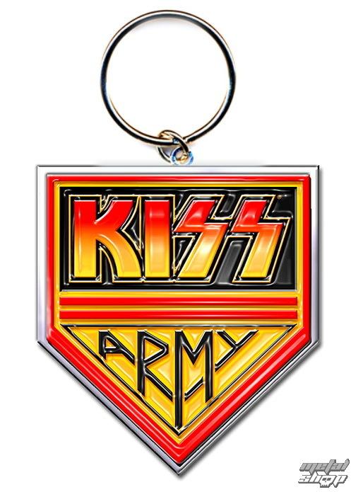 """kľúčenka (prívesok) KISS """"Army"""" - ROCK OFF"""