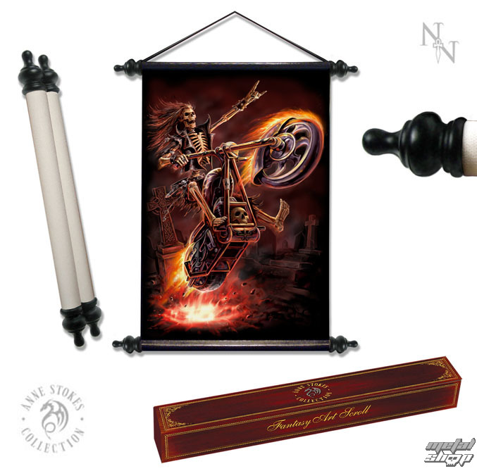 "zvitok ANNE STOKES ""Art Scroll Hell Rider"" - NOW0858"