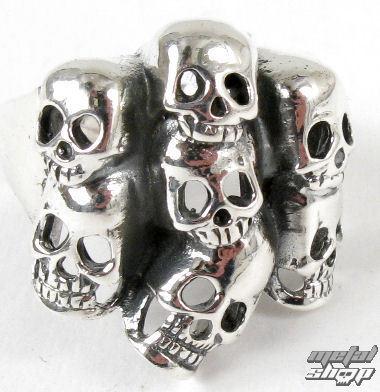 prsteň strieborný Lebka - BR 30