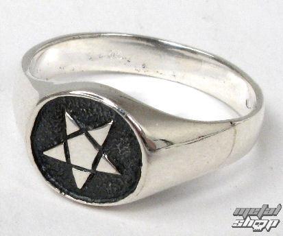 prsteň strieborný Pentagram - BR 115