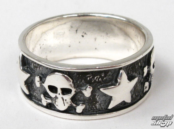 prsteň strieborný Lebka - BR 130