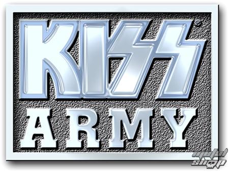 pripináčik Kiss - Army Block pin badge - ROCK OFF - KISSPIN04